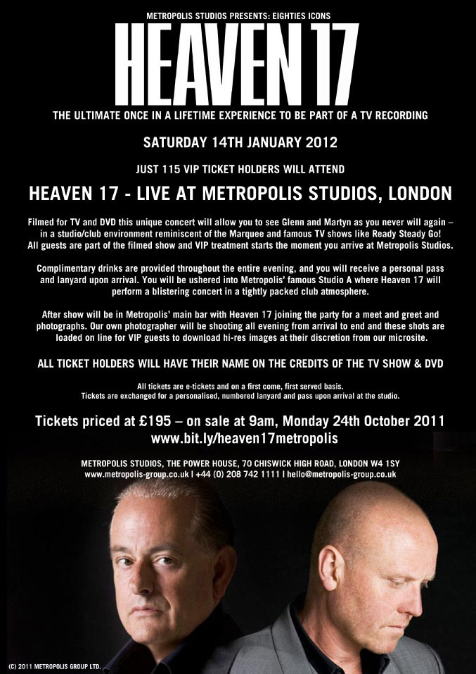 the offical website of heaven 17 heaven 17 live at the. Black Bedroom Furniture Sets. Home Design Ideas